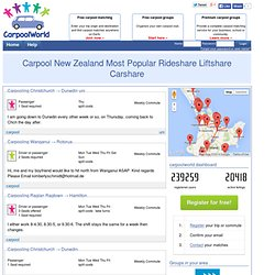 Carpool New Zealand Most Popular Rideshare Liftshare Carshare