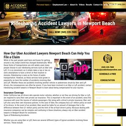 Ridesharing Accident Attorneys Newport Beach - Millions Recovered For Victims