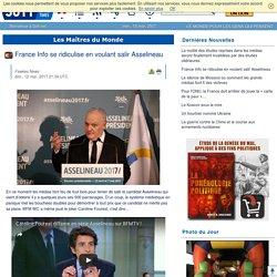 France Info se ridiculise en voulant salir Asselineau