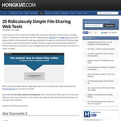 20 Ridiculously Simple File-Sharing Web Tools