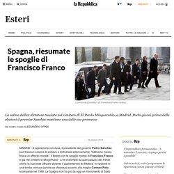 Spagna, riesumate le spoglie di Francisco Franco