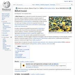 Rifiuti tossici wikipedia