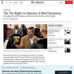 The 'Far Right' in America: A Brief Taxonomy