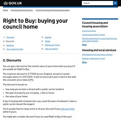 Right to Buy: buying your council home