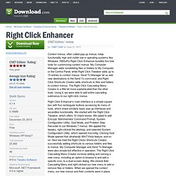 Right Click Enhancer - Free software downloads and software reviews