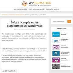 No right click pour éviter la copie de votre WordPress