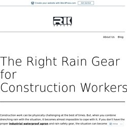 Choose All Waterproof Rain Suits With RK Safety