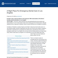 A Right Place For Emergency Dental Care In Los Angeles