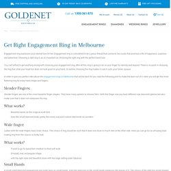 Get Right Engagement Ring in Melbourne