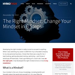 The Right Mindset: Change Your Mindset in 6 Steps