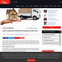 How to find right movers and packers in Abu Dhabi