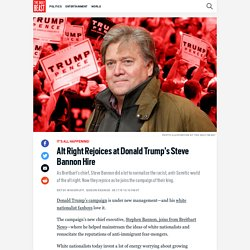 Alt Right Rejoices At Trump's Bannon Hire