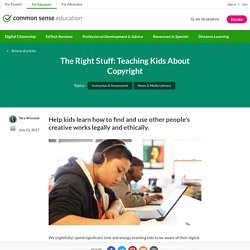 The Right Stuff: Teaching Kids About Copyright