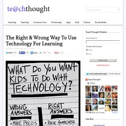 The Right & Wrong Way To Use Technology For Learning