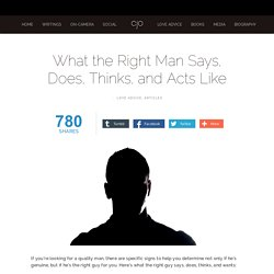 What the Right Man Says, Does, Thinks, and Acts Like — Charles J. Orlando