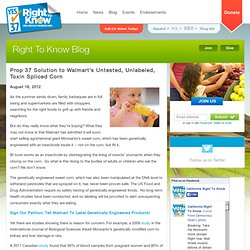 Right To Know Blog