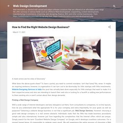 How to Find the Right Website Design Business?