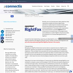 RightFax as a Managed Service