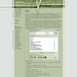 Audio Analyzer. Products. Audio Rightmark