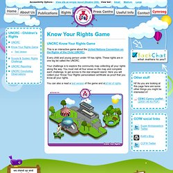 Know Your Rights Game - Children's Commissioner for Wales