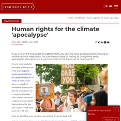 Human rights for the climate 'apocalypse'