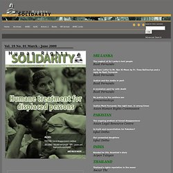 Asian Human Rights Commission - Human Rights SOLIDARITY