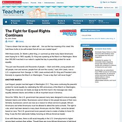 The Fight for Equal Rights Continues