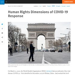 Human Rights Dimensions of COVID-19 Response