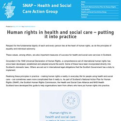 Human rights in health and social care – putting it into practice