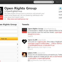 Open Rights Group (OpenRightsGroup) on Twitter