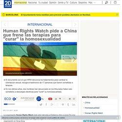 """Human Rights Watch pide a China que frene las terapias para """"curar"""" la homosexualidad"""