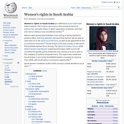 Women's rights in Saudi Arabia