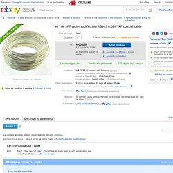 """40"""" 1M 3ft Semi Rigid Flexible RG405 0 086"""" RF Coaxial Cable"""