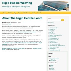 Rigid Heddle Weaving: About the Rigid Heddle Loom