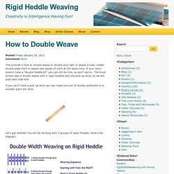 Rigid Heddle Weaving: How to Double Weave