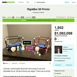 RigidBot 3D Printer by Michael Lundwall