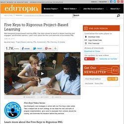 Five Keys to Rigorous Project-Based Learning