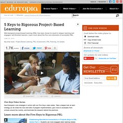 5 Keys to Rigorous Project-Based Learning