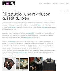 Rijksstudio : une révolution qui fait du bien