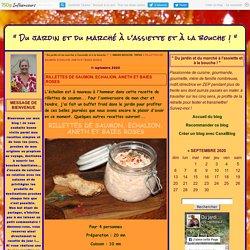 RILLETTES DE SAUMON, ECHALION, ANETH ET BAIES ROSES