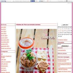 Rillettes de Thon aux tomates séchées - cuisine de fadila
