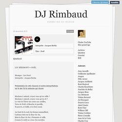 DJ Rimbaud - Poésie en musique - Poèmes en chansons