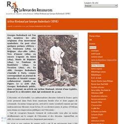 Arthur Rimbaud par Georges Rodenbach (1898)