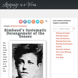 Rimbaud's Systematic Derangement of the Senses