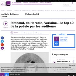 Rimbaud, de Heredia, Verlaine… le top 10 de la poésie par les auditeurs