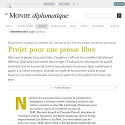 Débat -Projet pour une presse libre, Selon Pierre Rimbert