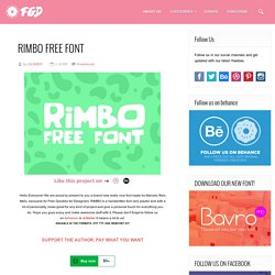 Free PSD Goodies and Mockups for Designers: RIMBO FREE FONT
