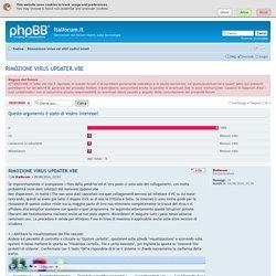 RIMOZIONE VIRUS UPDATER.VBE : Rimozione virus ed altri codici virali