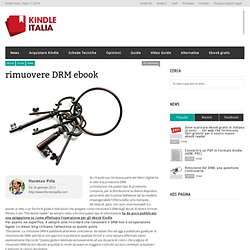 rimuovere DRM ebook