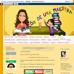 Rincón de una maestra: Lectoescritura